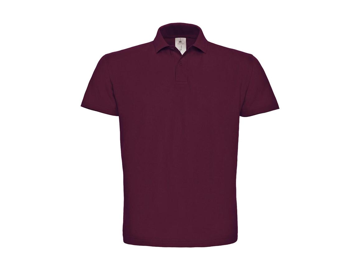 B & C ID.001 Piqué Polo Shirt, Wine, 4XL bedrucken, Art.-Nr. 548424499