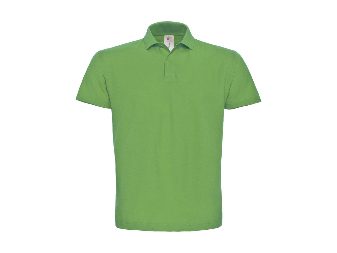 B & C ID.001 Piqué Polo Shirt, Real Green, L bedrucken, Art.-Nr. 548425035