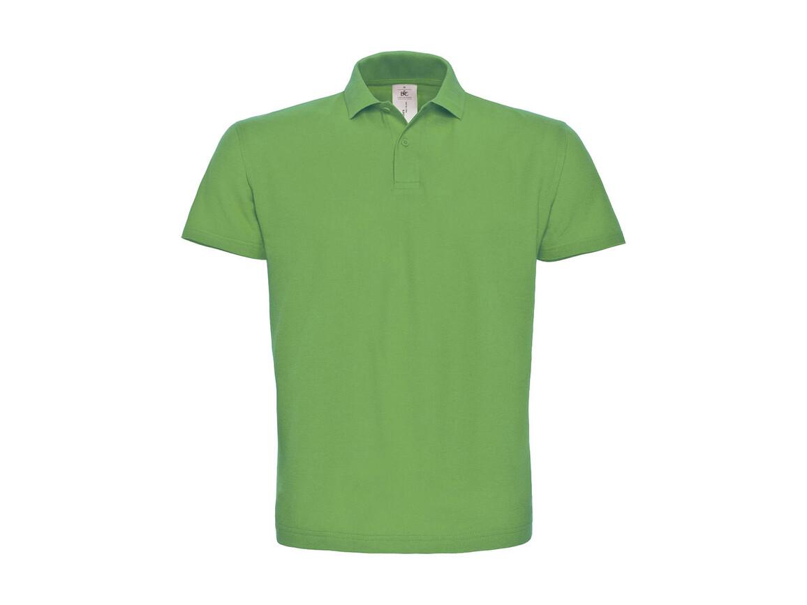 B & C ID.001 Piqué Polo Shirt, Real Green, 4XL bedrucken, Art.-Nr. 548425039