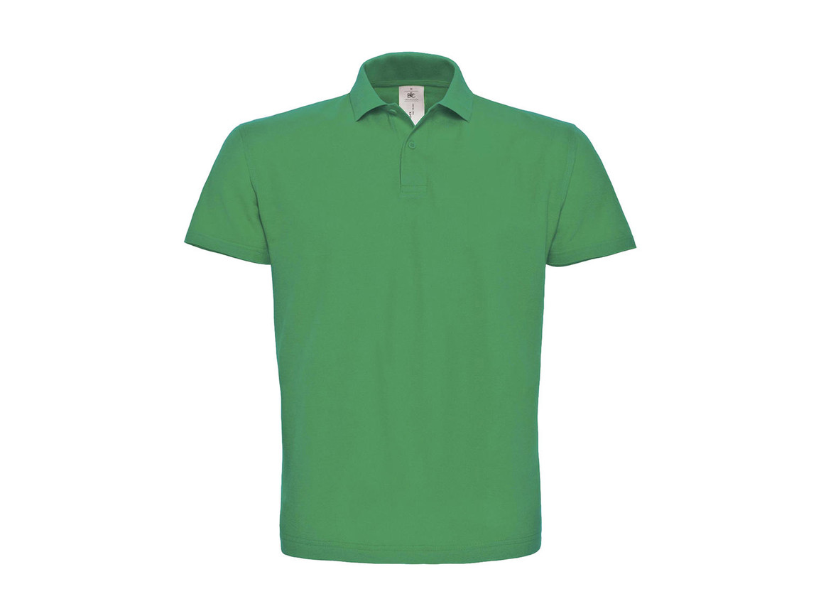 B & C ID.001 Piqué Polo Shirt, Kelly Green, XS bedrucken, Art.-Nr. 548425182