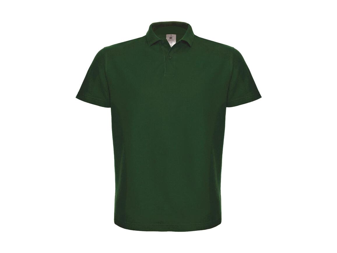 B & C ID.001 Piqué Polo Shirt, Bottle Green, S bedrucken, Art.-Nr. 548425403