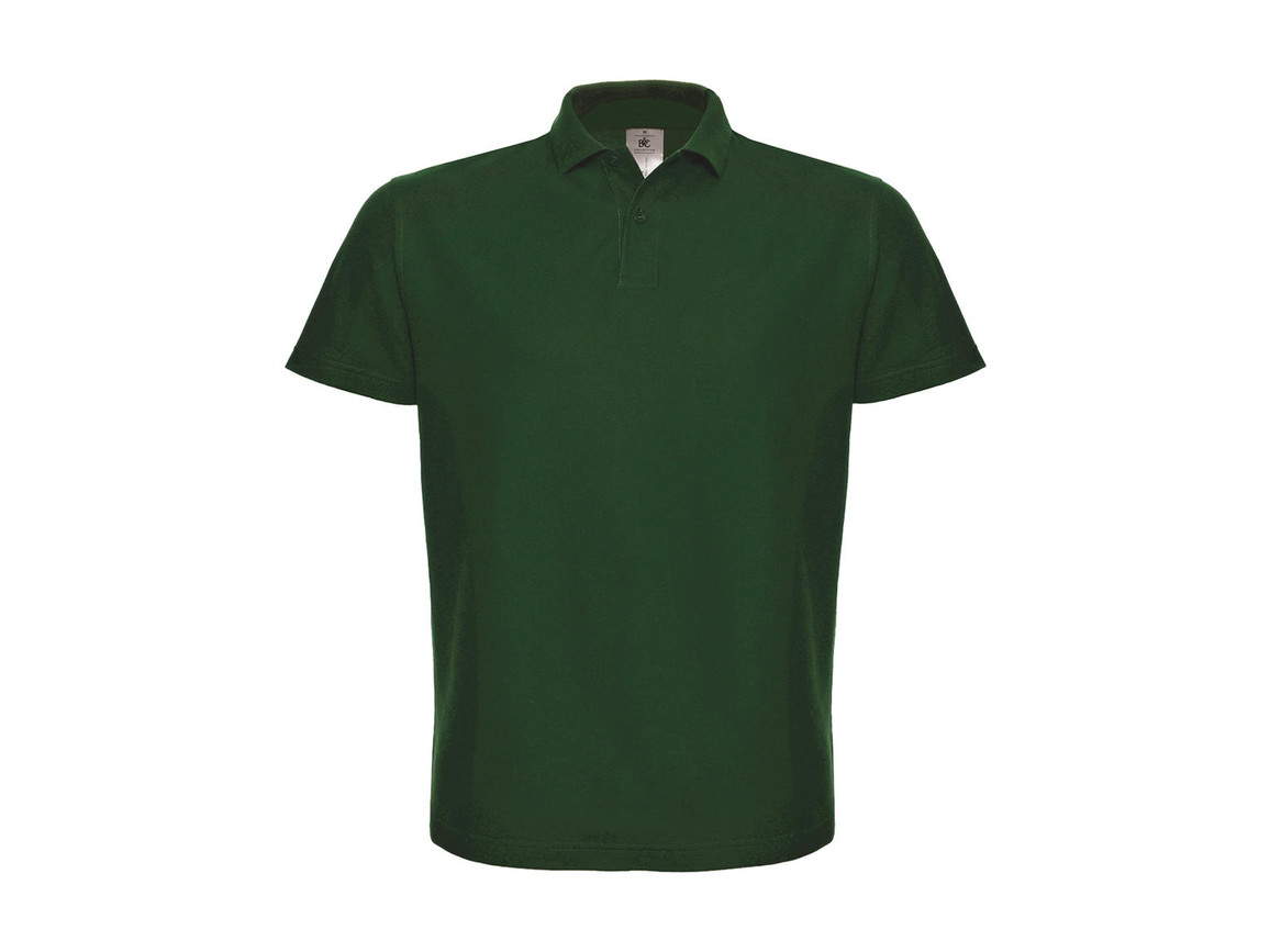 B & C ID.001 Piqué Polo Shirt, Bottle Green, S bedrucken, Art.-Nr. 548425403
