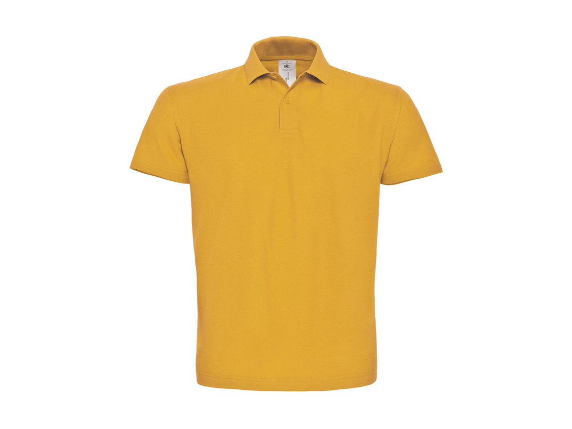 B & C ID.001 Piqué Polo Shirt, Chili Gold, XL bedrucken, Art.-Nr. 548426136