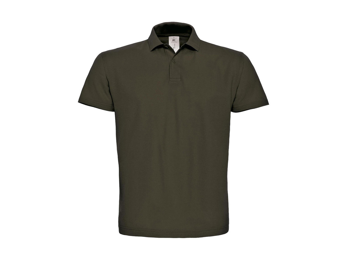 B & C ID.001 Piqué Polo Shirt, Brown, 2XL bedrucken, Art.-Nr. 548427007