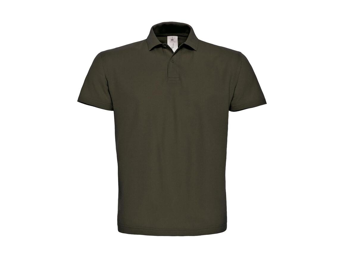 B & C ID.001 Piqué Polo Shirt, Brown, 2XL bedrucken, Art.-Nr. 548427007