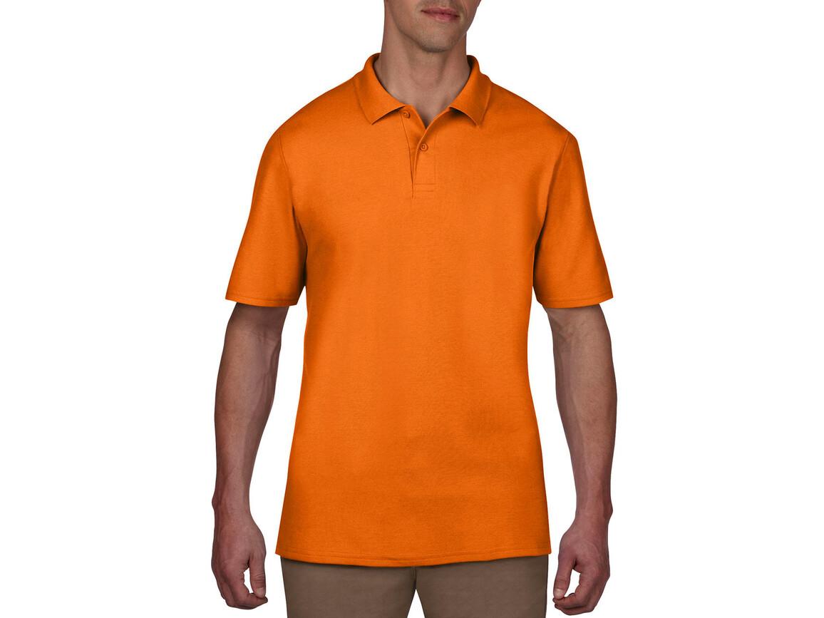 Anvil Adult Double Piqué Polo, Mandarine Orange, S bedrucken, Art.-Nr. 549084113