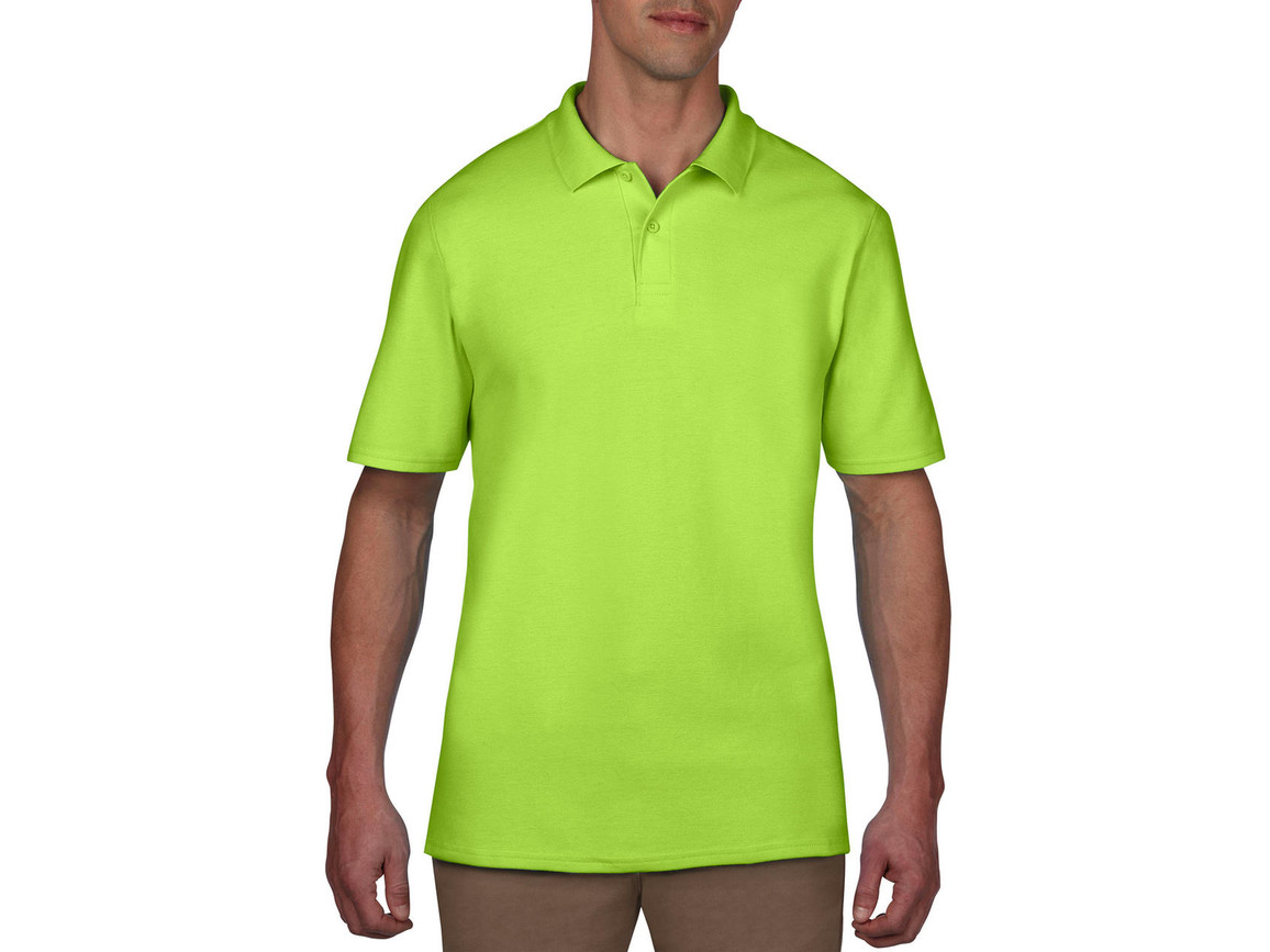 Anvil Adult Double Piqué Polo, Key Lime, XL bedrucken, Art.-Nr. 549085216