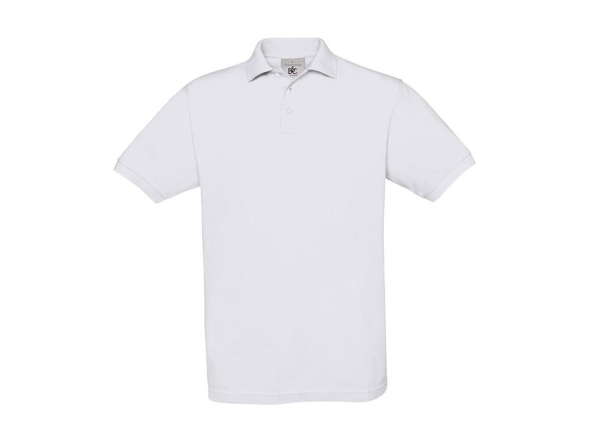 B & C Safran Piqué Polo, White, XL bedrucken, Art.-Nr. 549420006