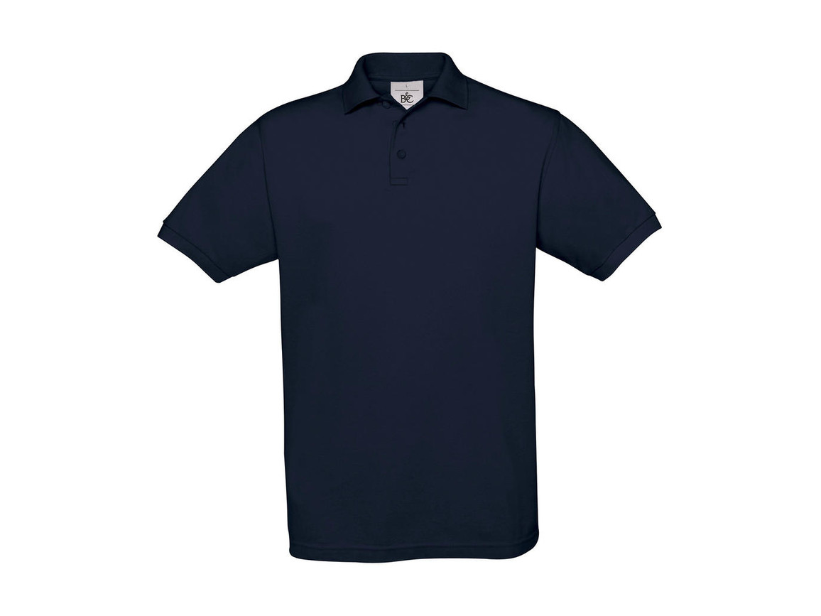 B & C Safran Piqué Polo, Navy, XL bedrucken, Art.-Nr. 549422006