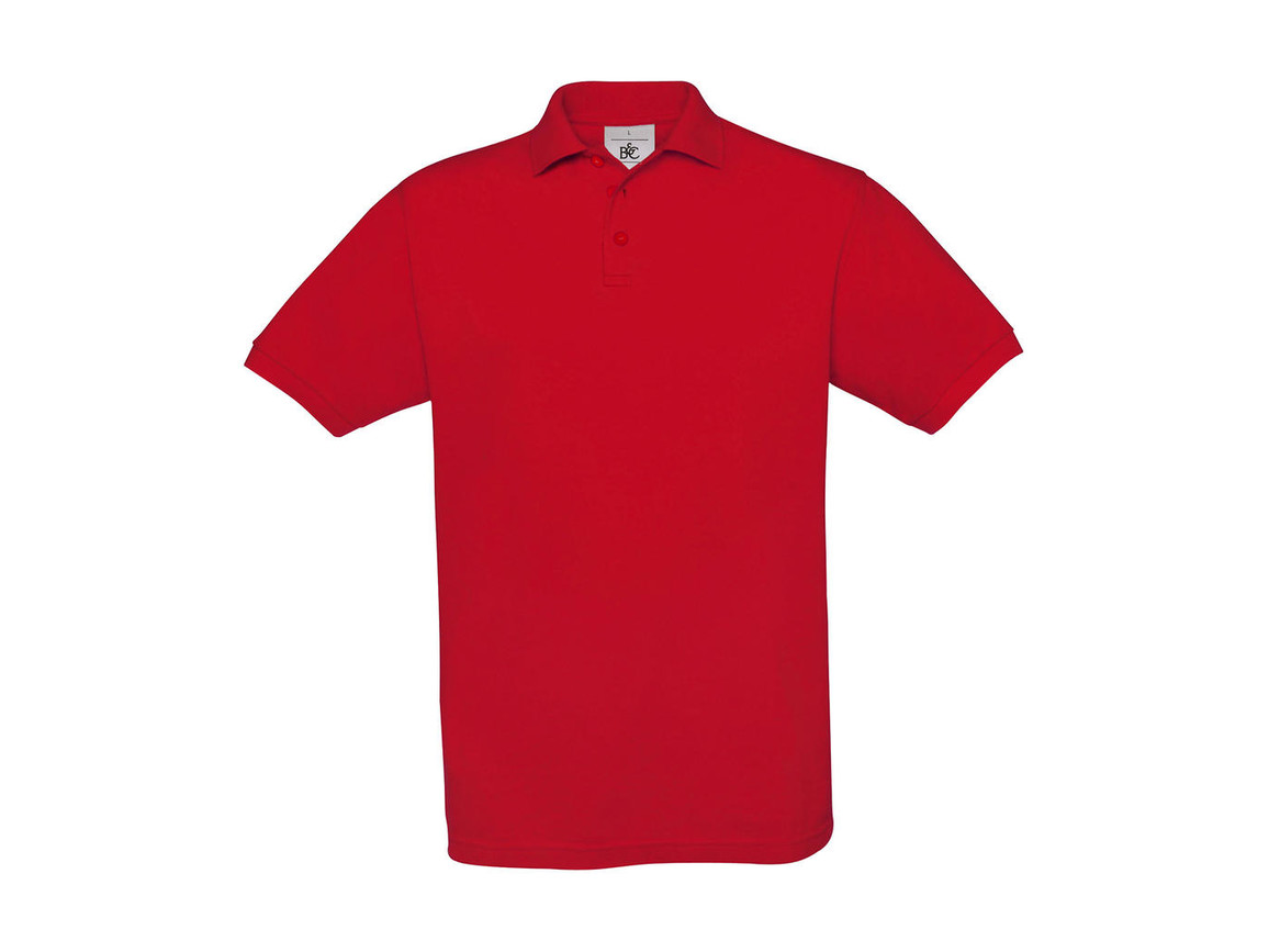 B & C Safran Piqué Polo, Red, 2XL bedrucken, Art.-Nr. 549424007