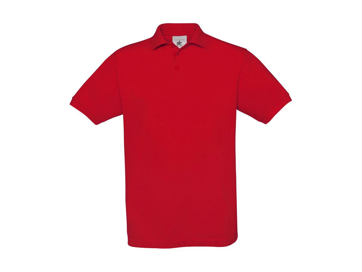 B & C Safran Piqué Polo, Red, M bedrucken, Art.-Nr. 549424004