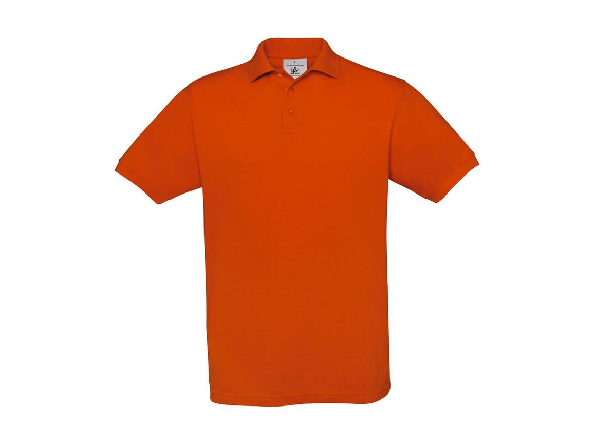 B & C Safran Piqué Polo, Pumpkin Orange, XL bedrucken, Art.-Nr. 549424126