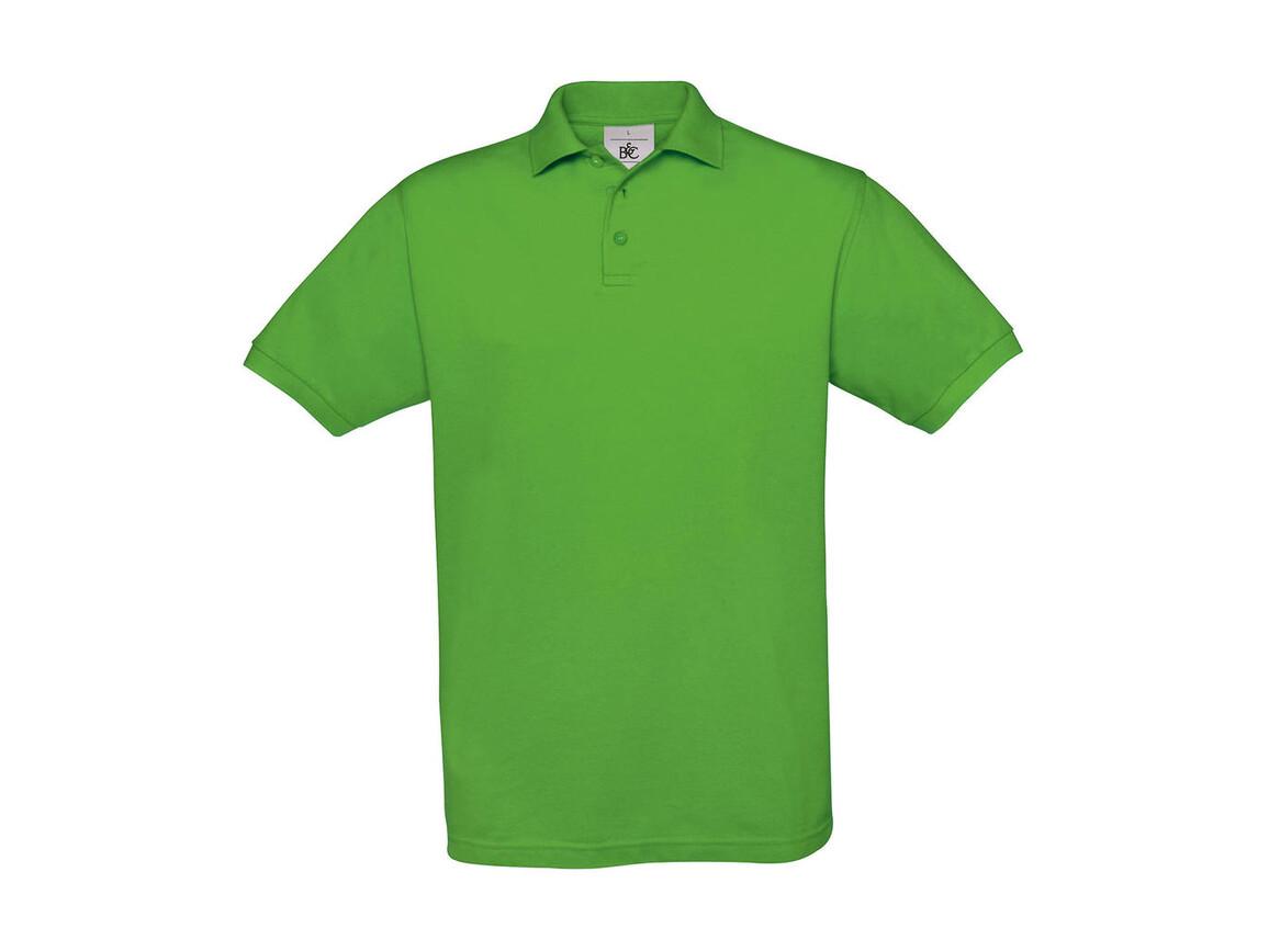 B & C Safran Piqué Polo, Real Green, XL bedrucken, Art.-Nr. 549425036