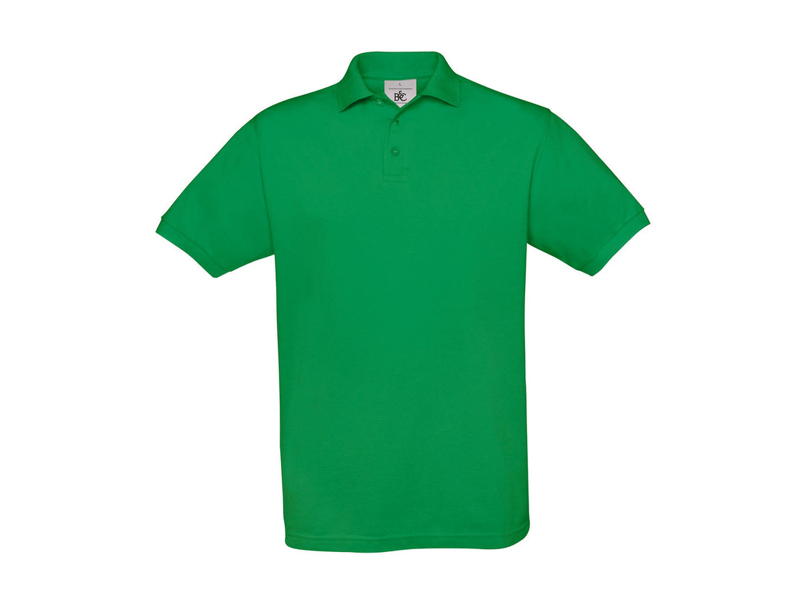 B & C Safran Piqué Polo, Kelly Green, M bedrucken, Art.-Nr. 549425184