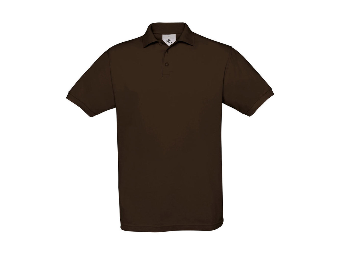 B & C Safran Piqué Polo, Brown, L bedrucken, Art.-Nr. 549427005