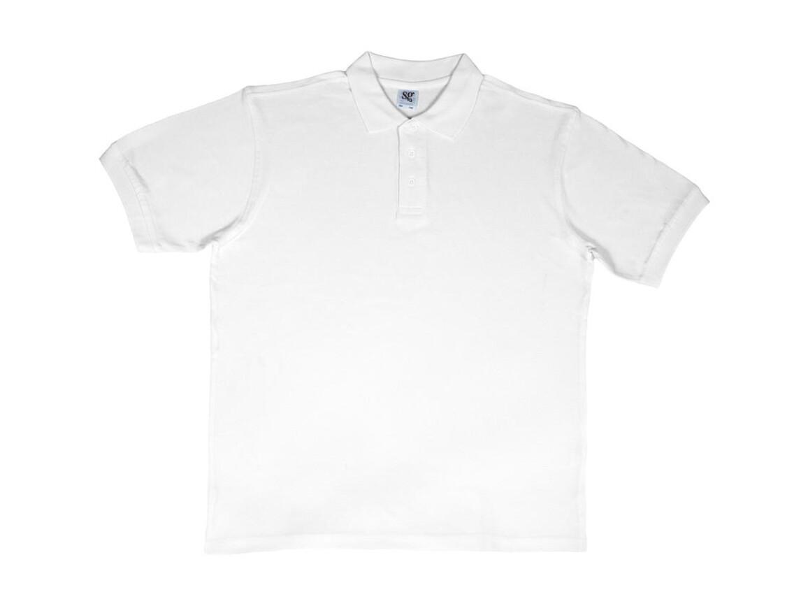 SG Men`s Cotton Polo, White, 2XL bedrucken, Art.-Nr. 549520007
