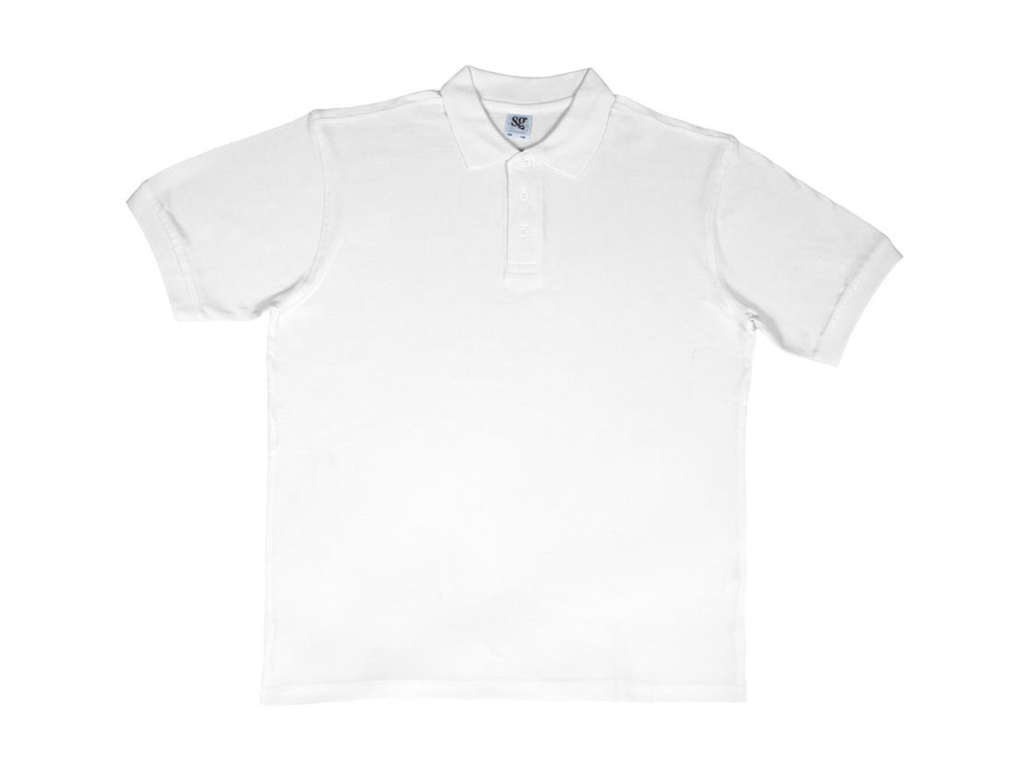 SG Men`s Cotton Polo, White, XL bedrucken, Art.-Nr. 549520006