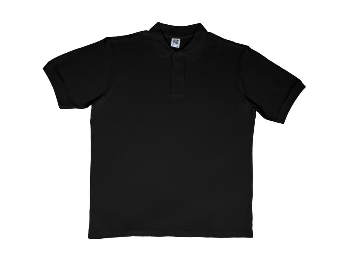 SG Men`s Cotton Polo, Black, 2XL bedrucken, Art.-Nr. 549521017