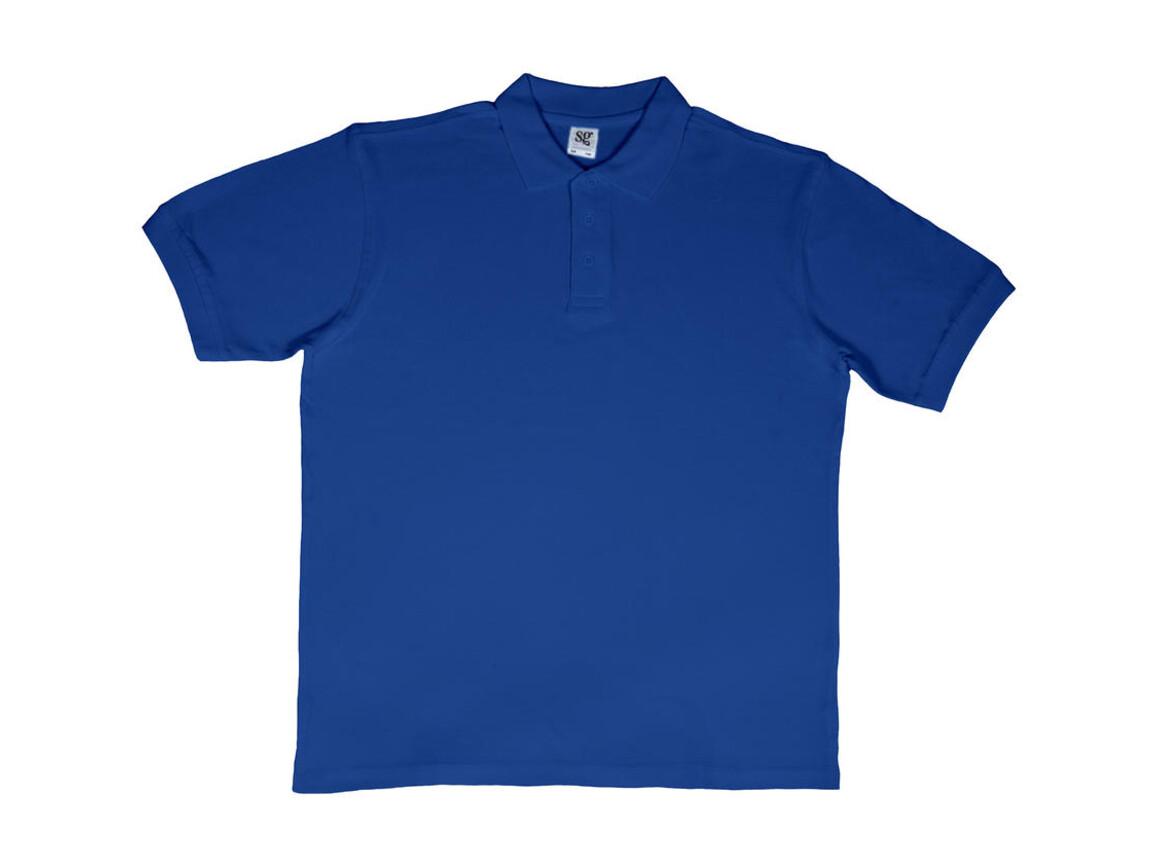 SG Men`s Cotton Polo, Royal Blue, 5XL bedrucken, Art.-Nr. 549523000
