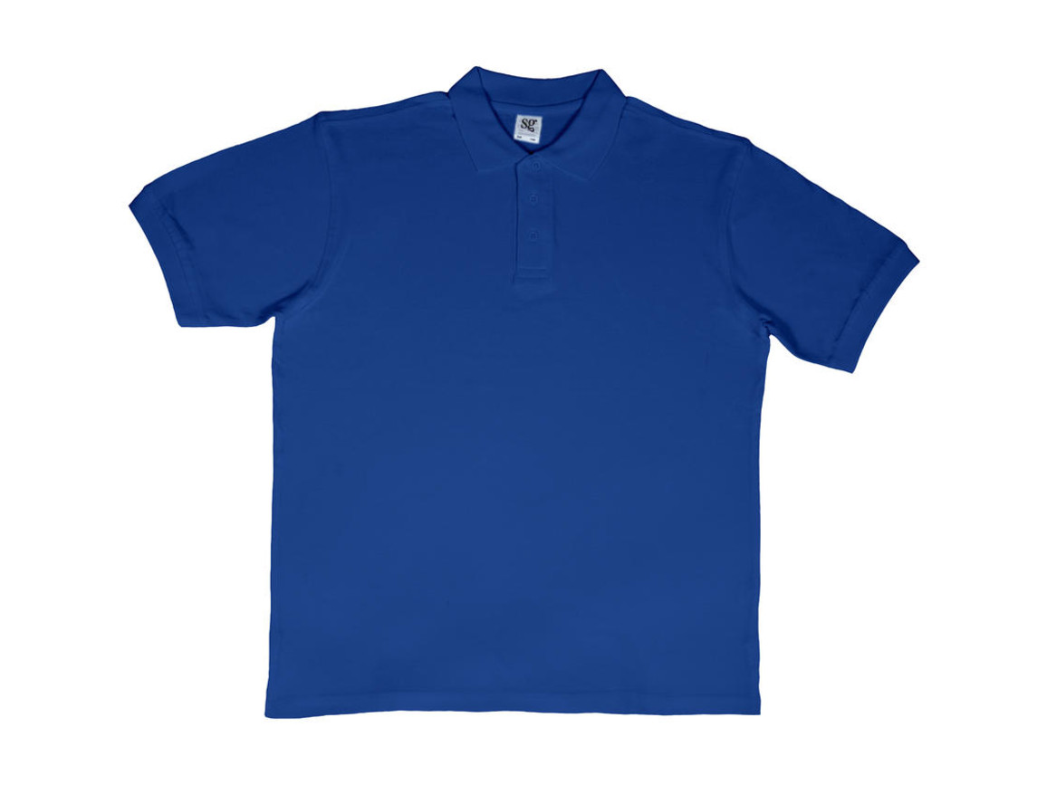 SG Men`s Cotton Polo, Royal Blue, L bedrucken, Art.-Nr. 549523005