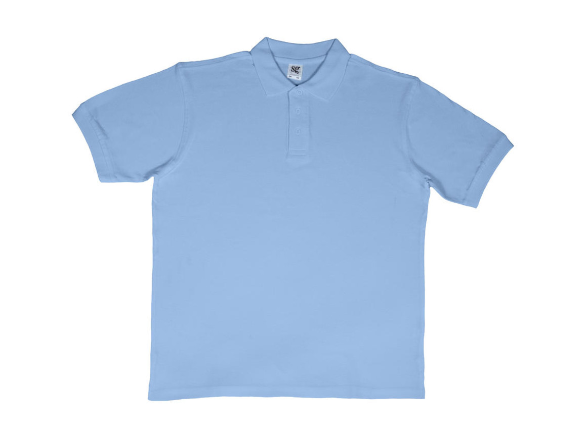 SG Men`s Cotton Polo, Sky, M bedrucken, Art.-Nr. 549523204