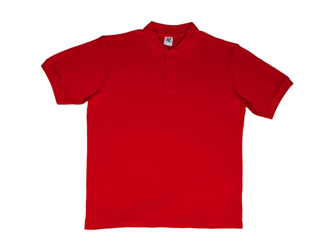 SG Men`s Cotton Polo, Red, S bedrucken, Art.-Nr. 549524003