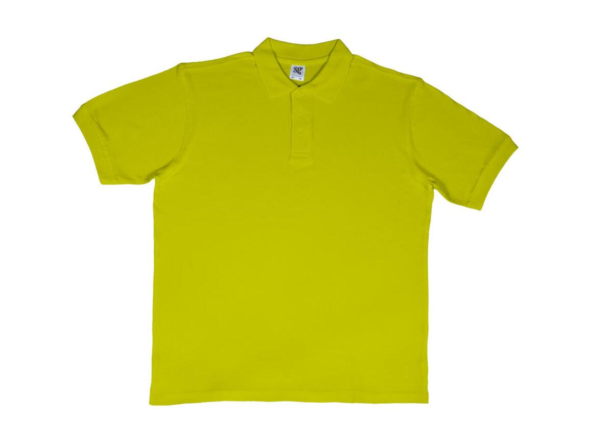 SG Men`s Cotton Polo, Lime, 3XL bedrucken, Art.-Nr. 549525218