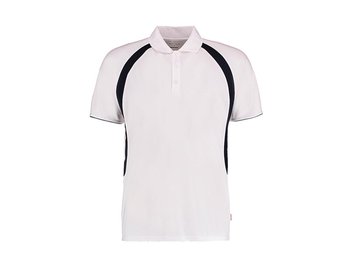 Kustom Kit Classic Fit Cooltex® Riviera Polo Shirt, White/Navy, 2XL bedrucken, Art.-Nr. 550110527