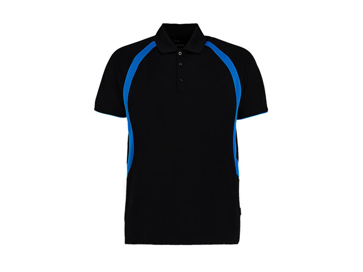 Kustom Kit Classic Fit Cooltex® Riviera Polo Shirt, Black/Electric Blue, XL bedrucken, Art.-Nr. 550111636