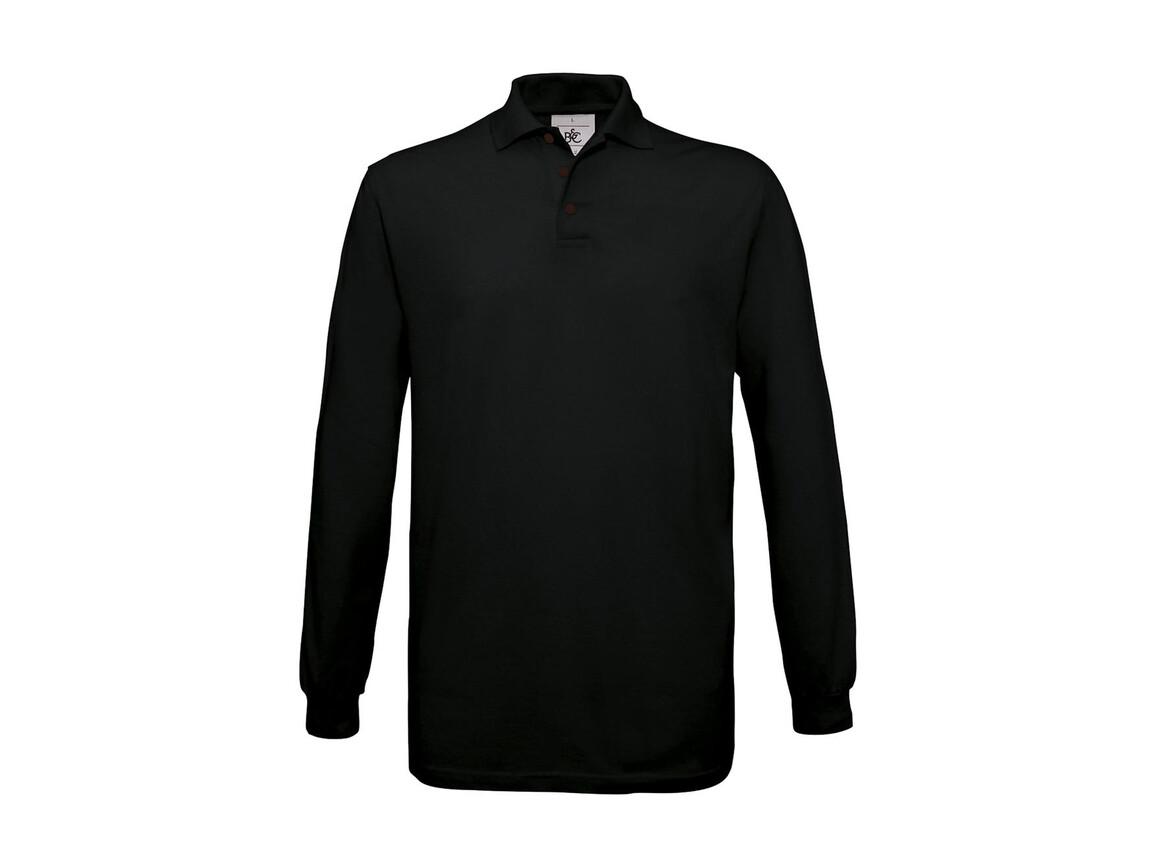 B & C Safran LSL Polo, Black, XL bedrucken, Art.-Nr. 554421016