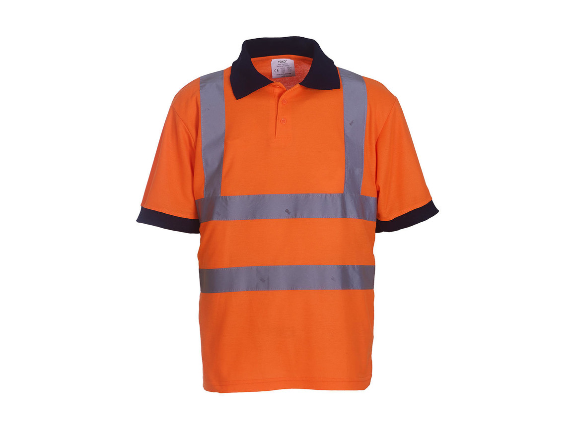Yoko Fluo Polo, Fluo Orange, 5XL bedrucken, Art.-Nr. 577774058