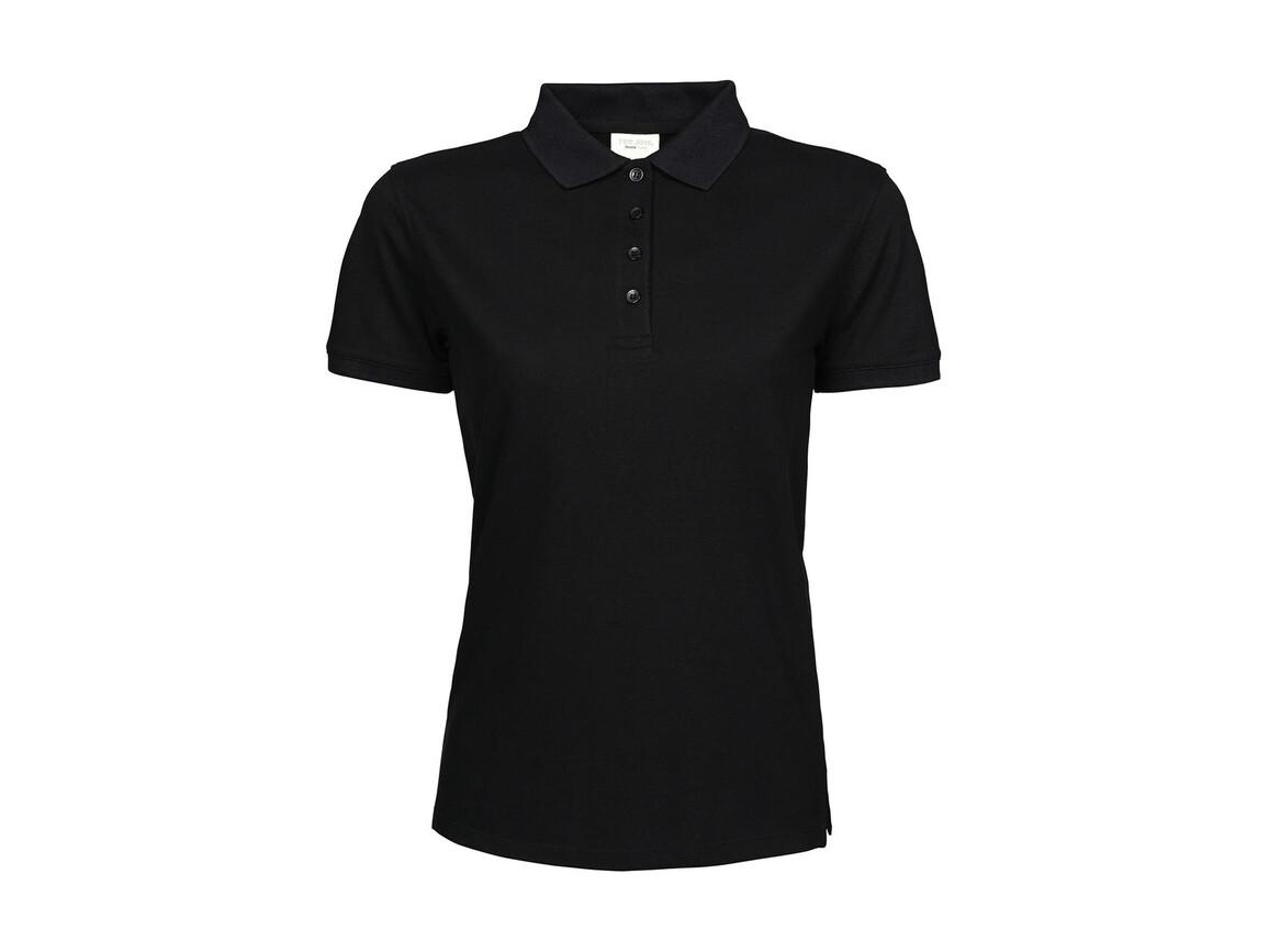 Tee Jays Ladies` Heavy Polo Piqué, Black, M bedrucken, Art.-Nr. 578541014