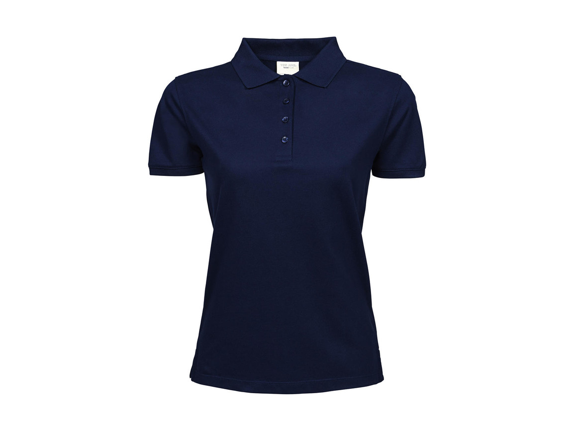 Tee Jays Ladies` Heavy Polo Piqué, Navy, S bedrucken, Art.-Nr. 578542003