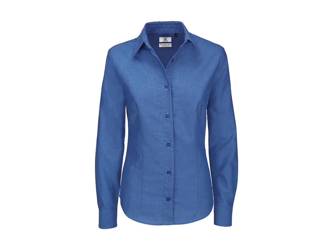 B & C Oxford LSL/women Shirt, Blue Chip, 6XL bedrucken, Art.-Nr. 710422031