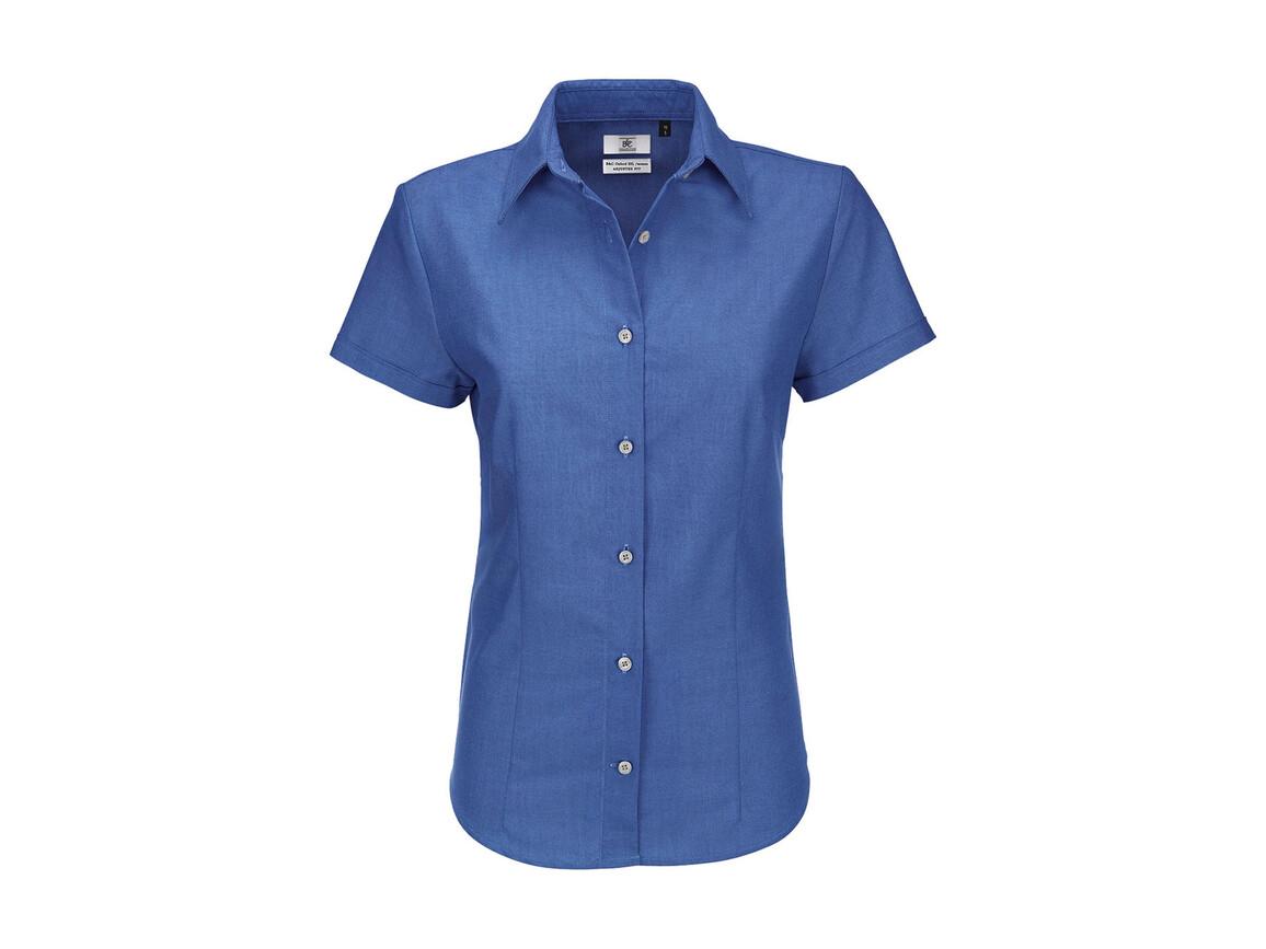 B & C Oxford SSL/women Shirt, Blue Chip, L bedrucken, Art.-Nr. 711422035