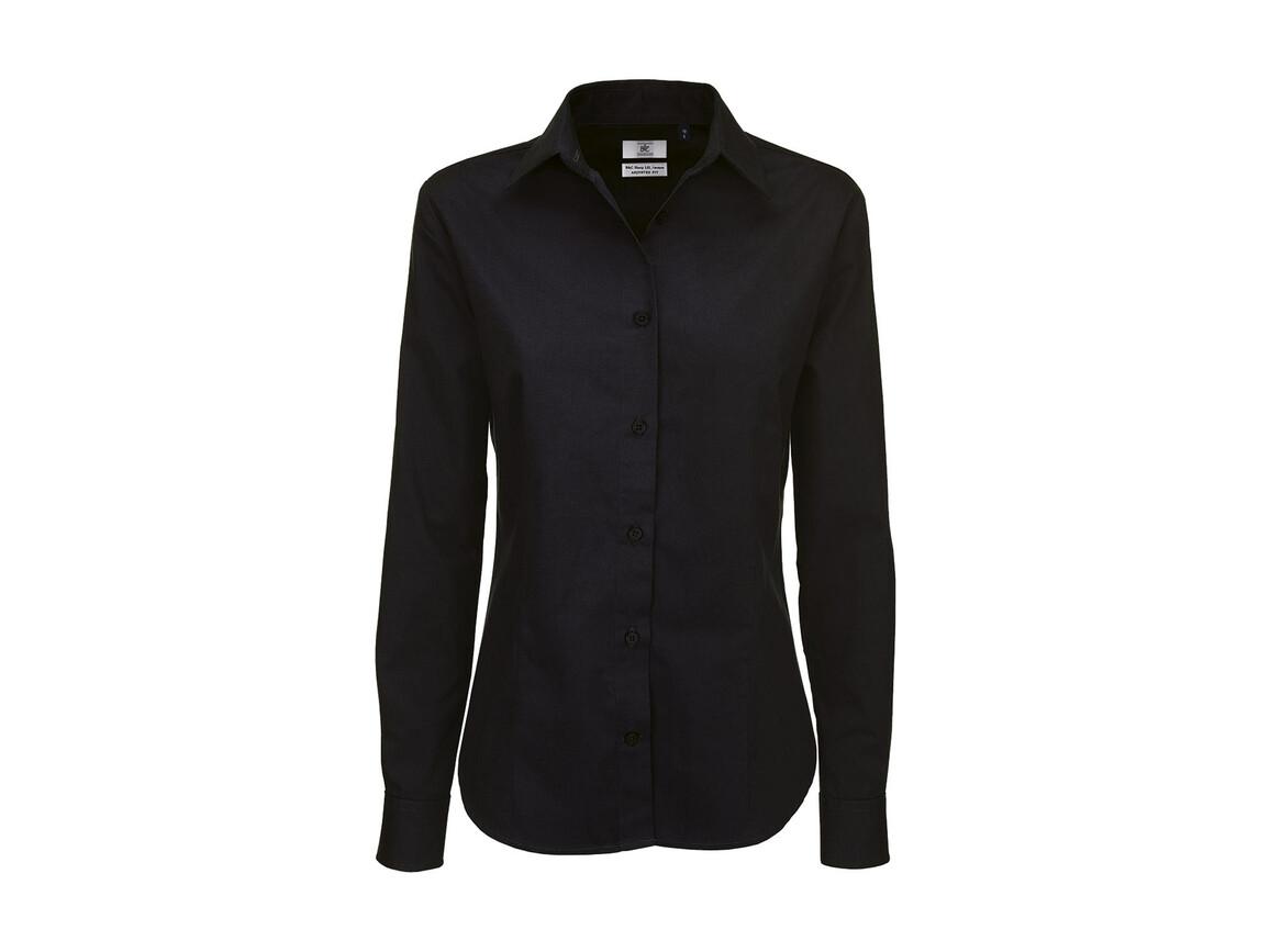 B & C Sharp LSL/women Twill Shirt, Black, 3XL bedrucken, Art.-Nr. 718421018