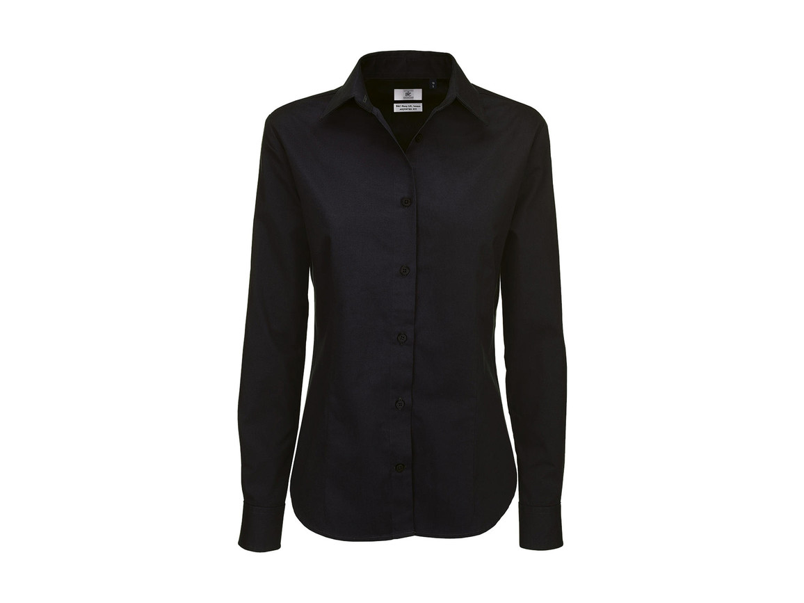 B & C Sharp LSL/women Twill Shirt, Black, 3XL bedrucken, Art.-Nr. 718421018