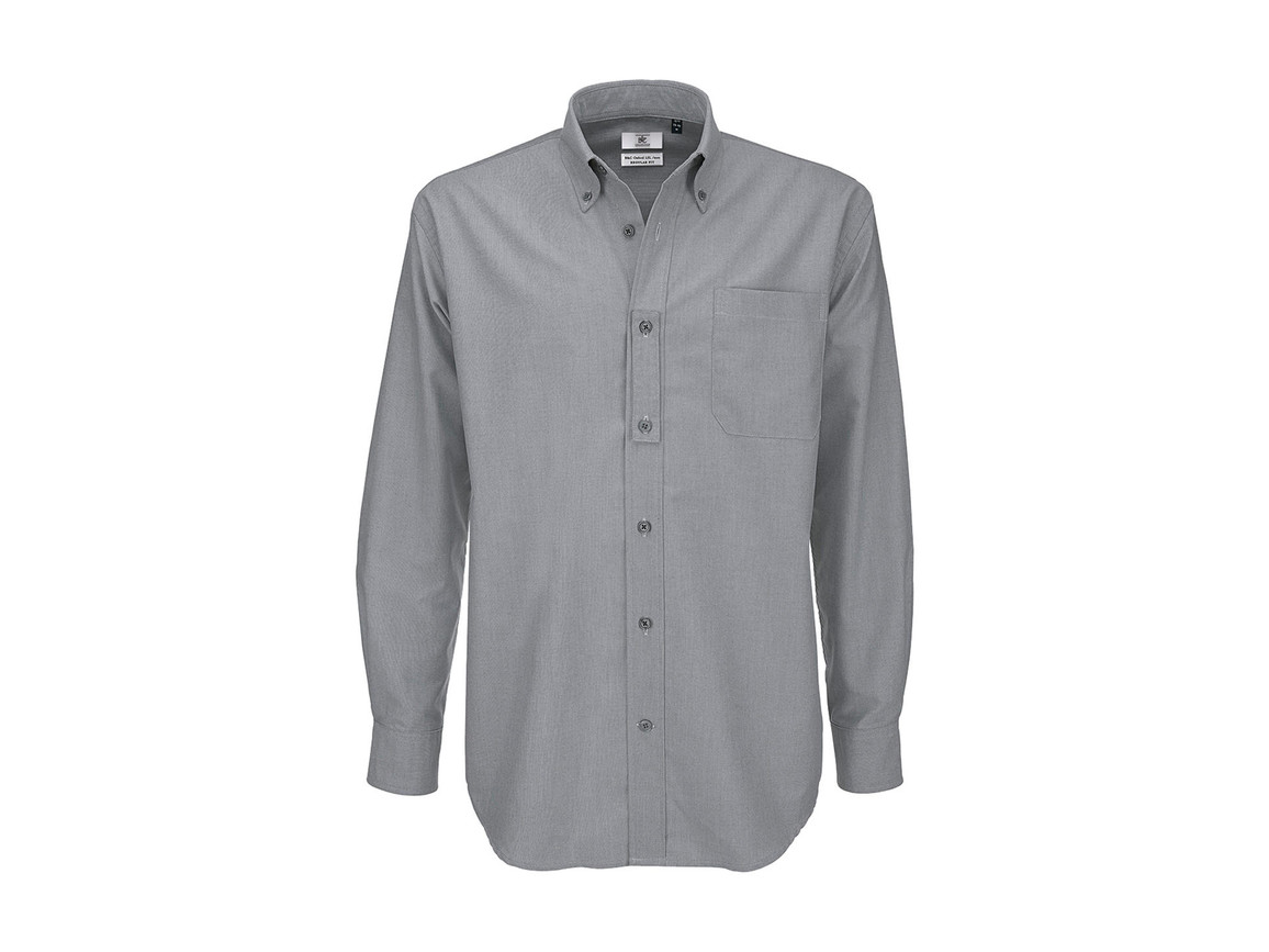 B & C Oxford LSL/men Shirt, Silver Moon, 5XL bedrucken, Art.-Nr. 720421450
