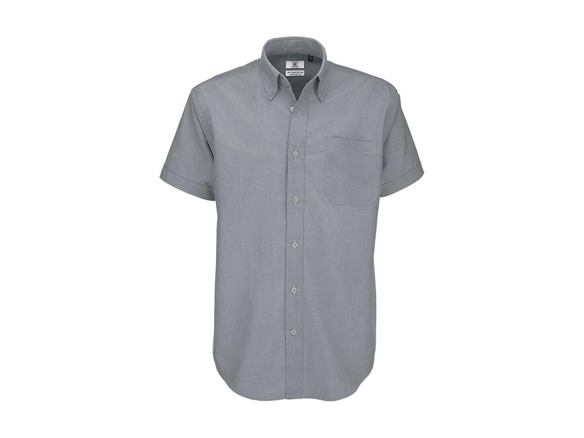 B & C Oxford SSL/men Shirt, Silver Moon, 4XL bedrucken, Art.-Nr. 721421459