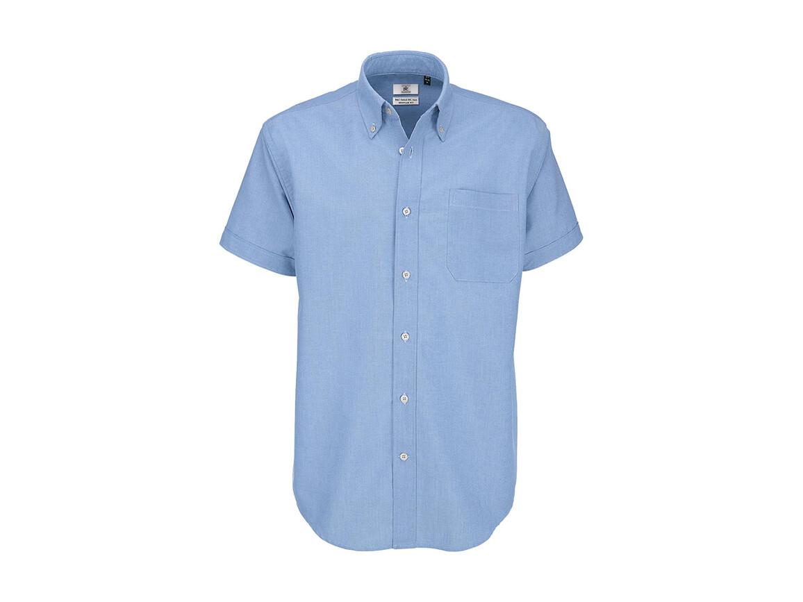 B & C Oxford SSL/men Shirt, Oxford Blue, 3XL bedrucken, Art.-Nr. 721423268