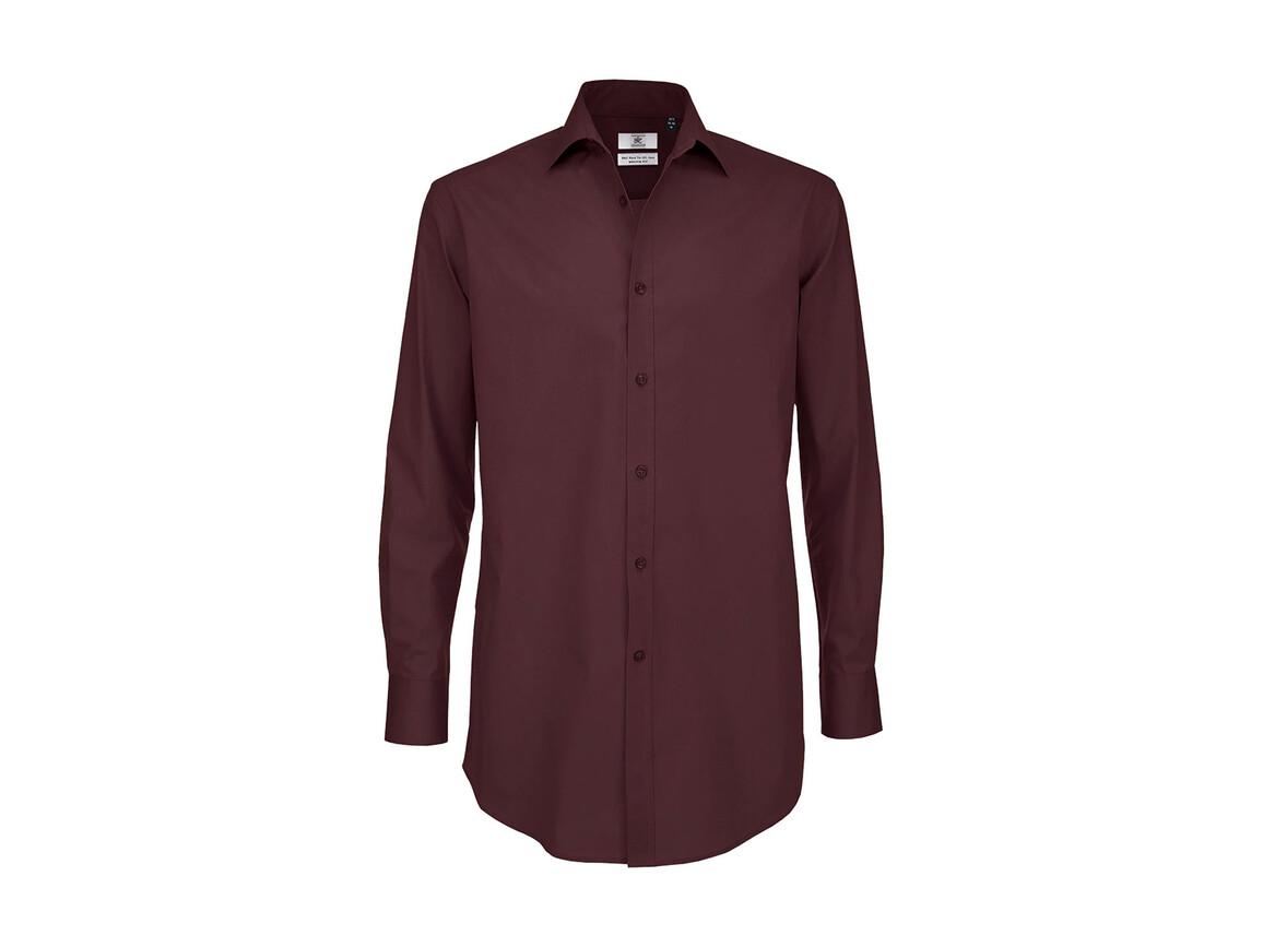 B & C Black Tie LSL/men Shirt, Luxurious Red, S bedrucken, Art.-Nr. 722424323