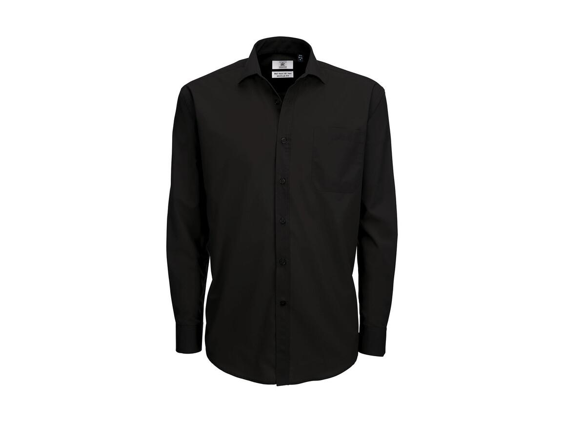 B & C Smart LSL/men Poplin Shirt, Black, 2XL bedrucken, Art.-Nr. 726421017