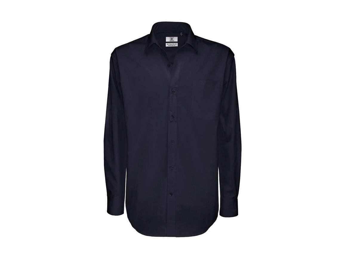 B & C Sharp LSL/men Twill Shirt, Navy Blue, XL bedrucken, Art.-Nr. 728422006