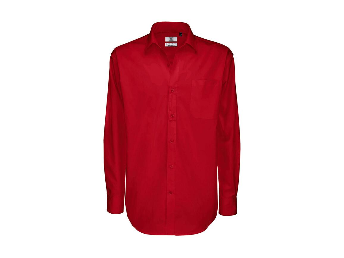 B & C Sharp LSL/men Twill Shirt, Deep Red, 2XL bedrucken, Art.-Nr. 728424067