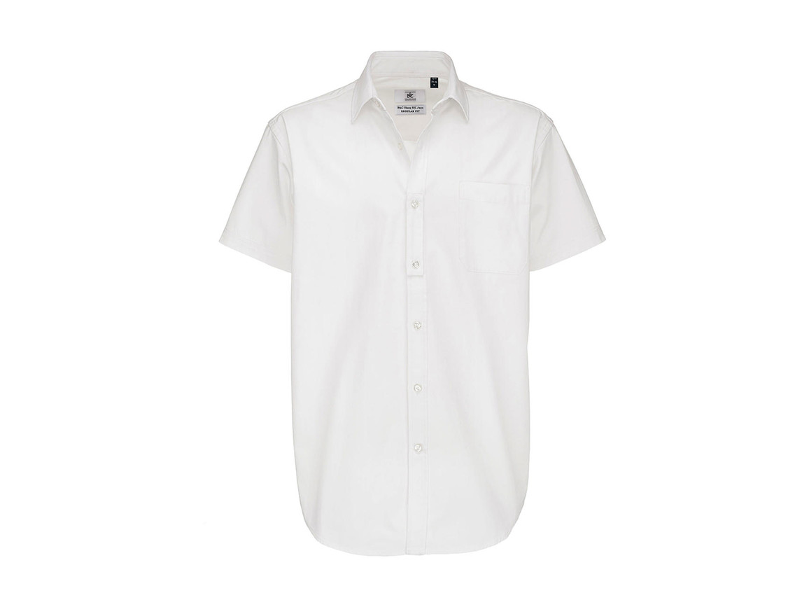 B & C Sharp SSL/men Twill Shirt, White, S bedrucken, Art.-Nr. 729420003