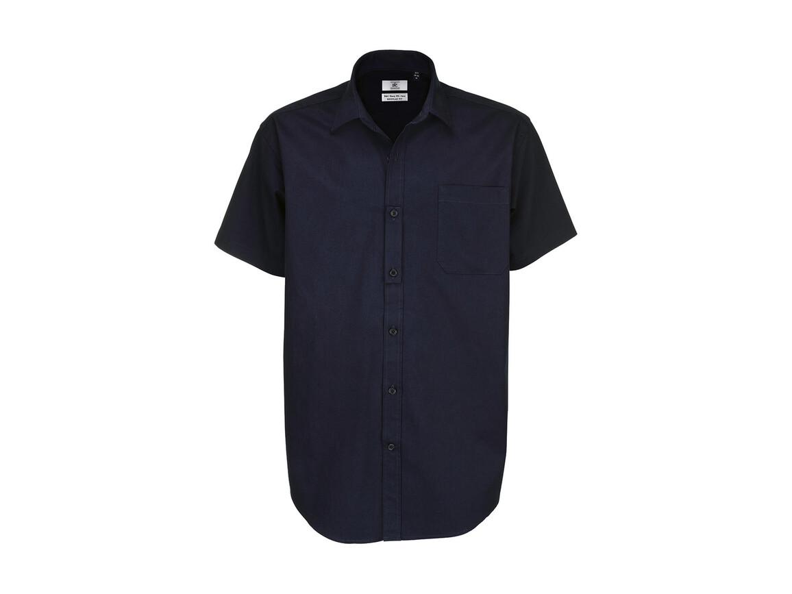 B & C Sharp SSL/men Twill Shirt, Navy Blue, L bedrucken, Art.-Nr. 729422005