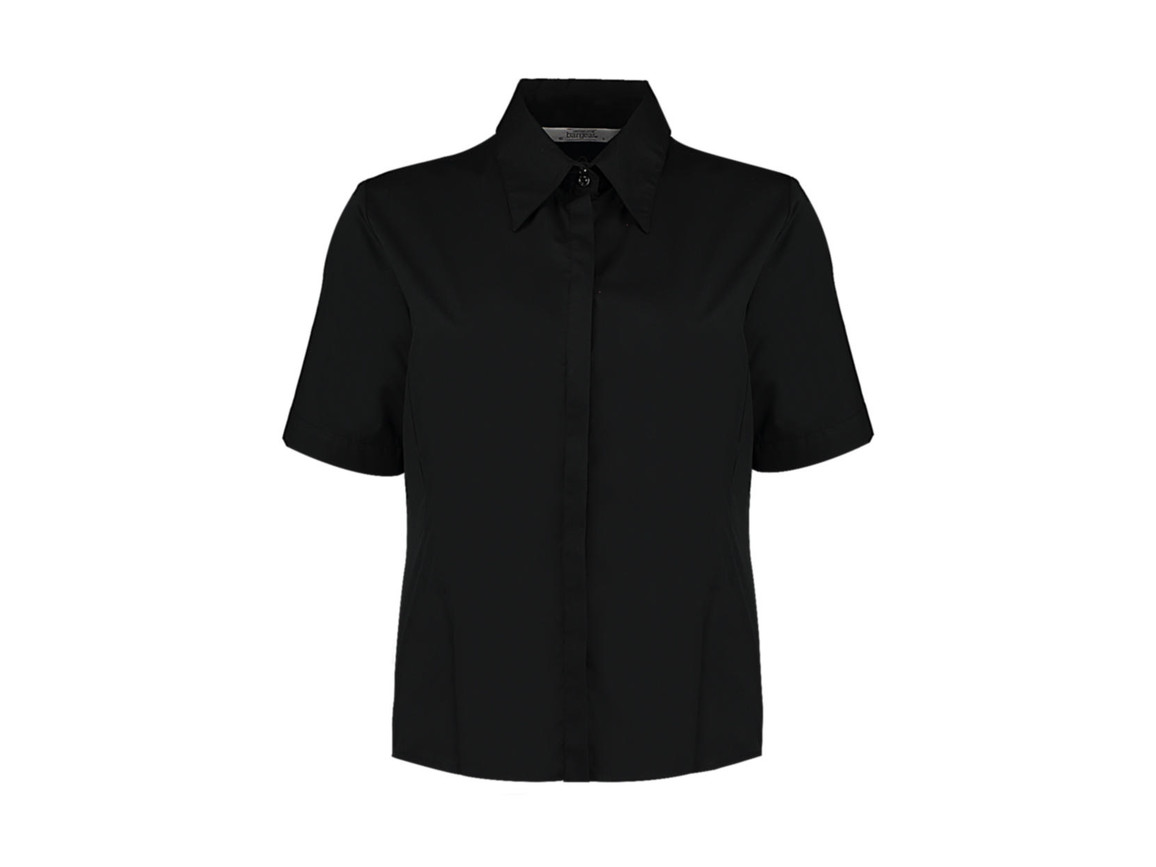 Kustom Kit Women`s Tailored Fit Shirt SSL, Black, XL bedrucken, Art.-Nr. 748111015
