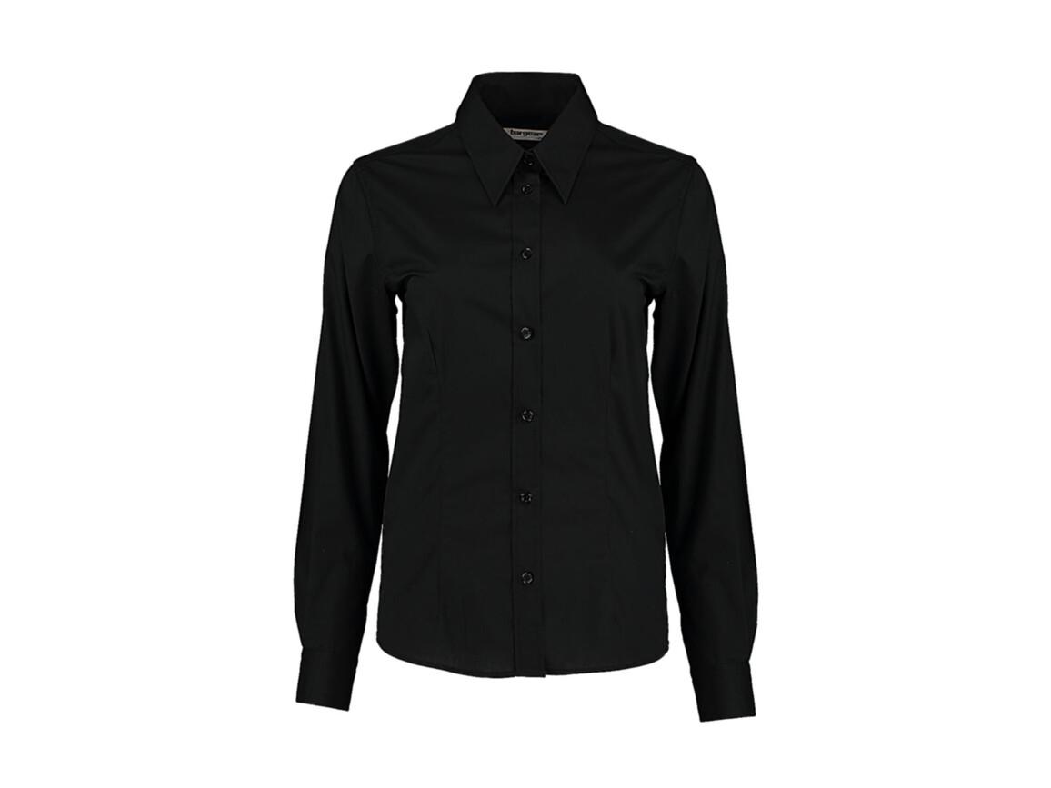 Kustom Kit Women`s Tailored Fit Shirt, Black, M bedrucken, Art.-Nr. 751111013