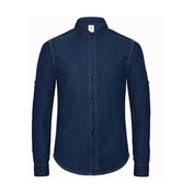 B & C DNM Vision/men Denim Shirt LS bedrucken, Art.-Nr. 79942