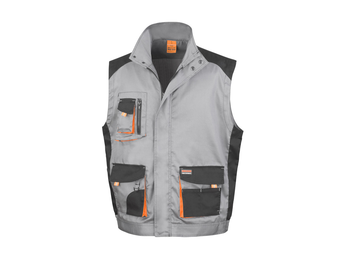 Result LITE Gilet, Grey/Black/Orange, M bedrucken, Art.-Nr. 868331823